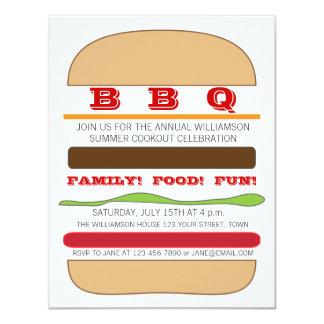 BBQ Burger Invitation