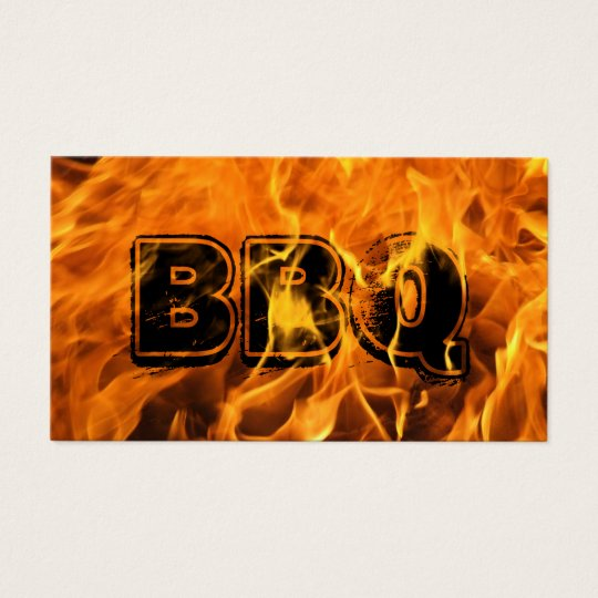 BBQ Catering Hot Burning Fire Business Card