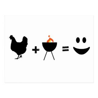 BBQ Chicken Happy Postcard