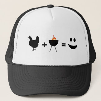 BBQ Chicken Happy Trucker Hat