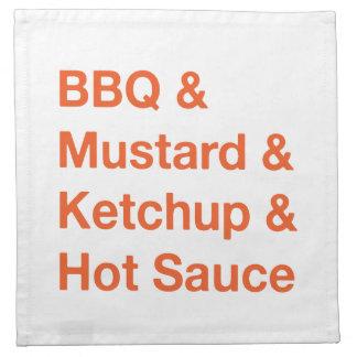 BBQ condiments napkin
