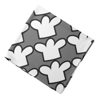 BBQ Cooking bandana with chef hat print