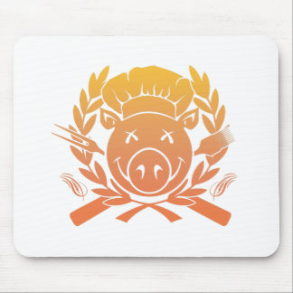 BBQ Crest - sunset fade Mouse Pad