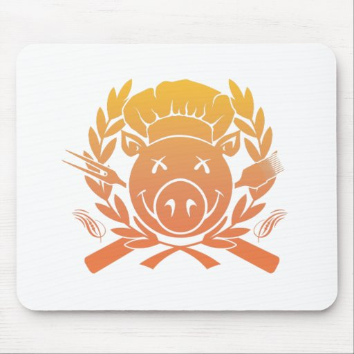 BBQ Crest - sunset fade Mouse Pads