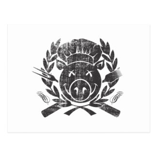 BBQ Crest - worn black Postcard