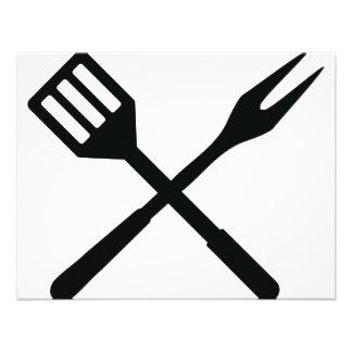 BBQ cutlery icon Custom Invitation