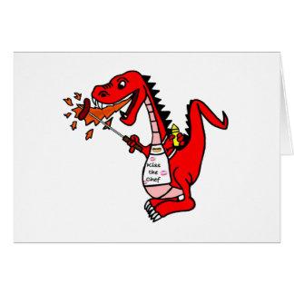 BBQ Dragon Greeting Card