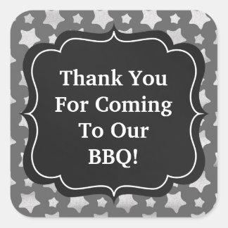 BBQ Faux Chaulk board sticker