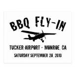 BBQ Fly-In Aeroplane Postcard