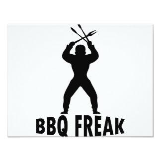 BBQ-freak with cutlery 11 Cm X 14 Cm Invitation Card