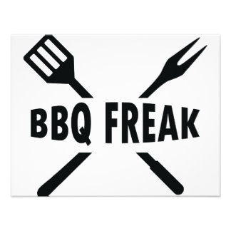 BBQ-Freak with cutlery icon Personalized Invitations