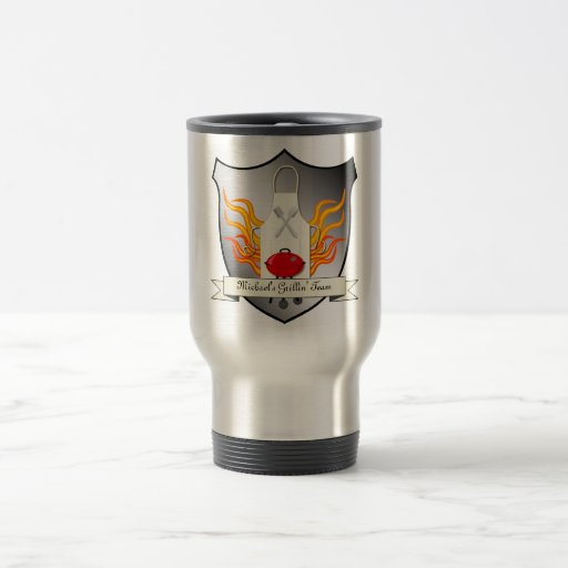 BBQ Grilling Coat of Arms Humourous Vector Design Coffee Mug