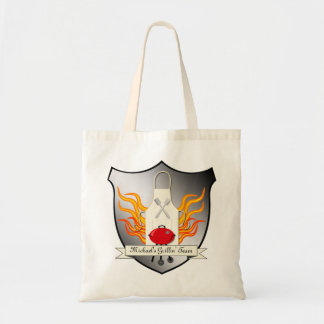 BBQ Grilling Coat of Arms Humourous Vector Design Tote Bag