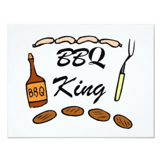 BBQ King 11 Cm X 14 Cm Invitation Card