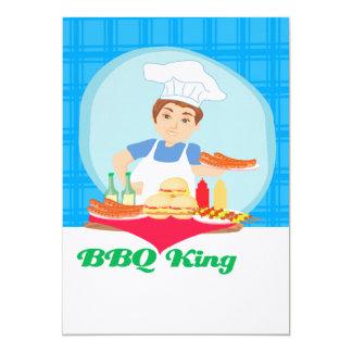 BBQ king 13 Cm X 18 Cm Invitation Card