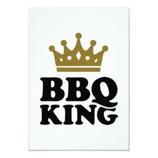 BBQ King 3.5x5 Paper Invitation Card