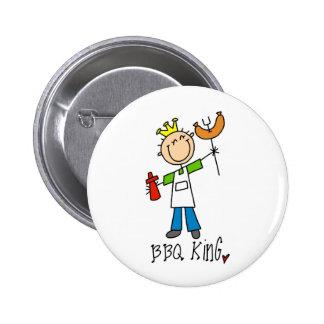 BBQ King 6 Cm Round Badge