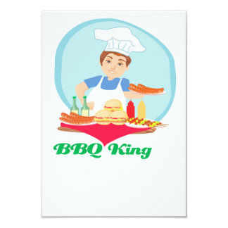 BBQ king 9 Cm X 13 Cm Invitation Card
