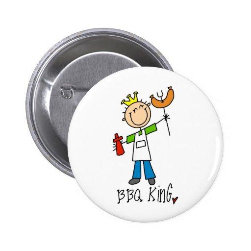 BBQ King Pinback Buttons