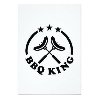 BBQ King barbecue 9 Cm X 13 Cm Invitation Card