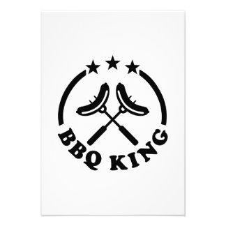 BBQ King barbecue Personalized Invitation