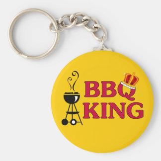 BBQ King Basic Round Button Key Ring
