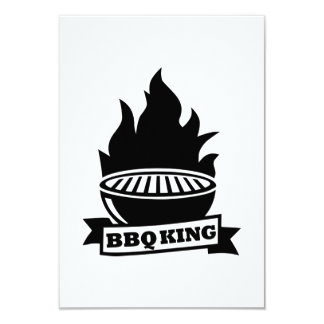 BBQ king flame 9 Cm X 13 Cm Invitation Card