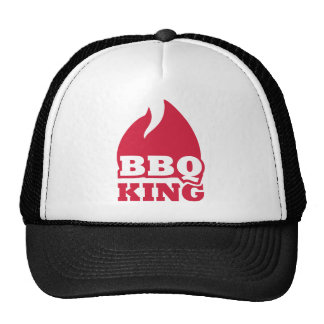 BBQ King flame fire Mesh Hats