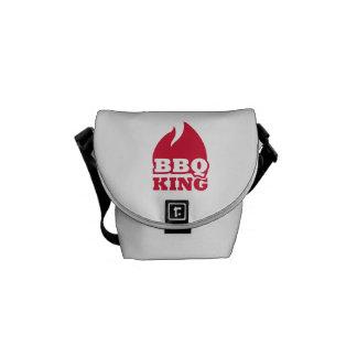 BBQ King flame fire Messenger Bag