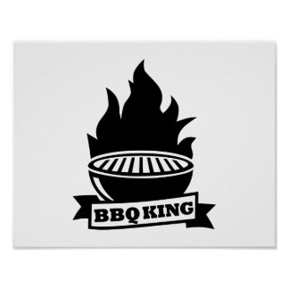 BBQ king flame Poster