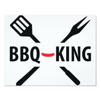 BBQ-King icon 11 Cm X 14 Cm Invitation Card