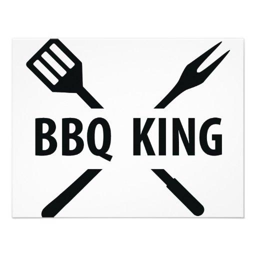 BBQ King icon Personalized Invitation