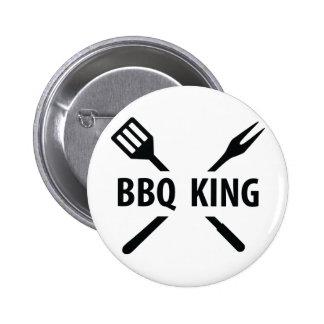 BBQ King icon Pinback Button