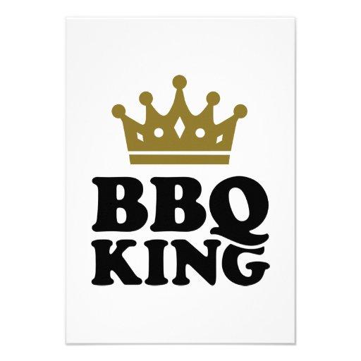 BBQ King Custom Invitations