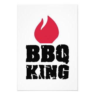 BBQ King Custom Invitation