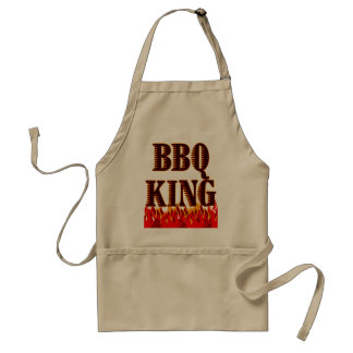 BBQ King Red Flames Cookout Saying Apron
