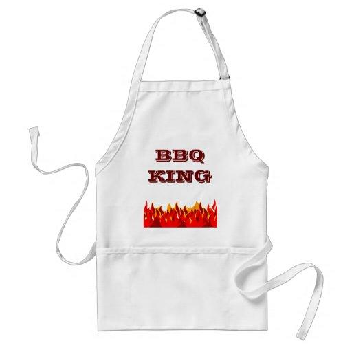 BBQ King Red Flames Custom Slogan Aprons
