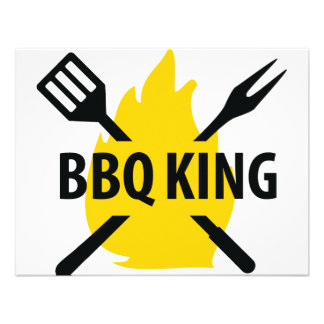 BBQ King with flame icon Invitations