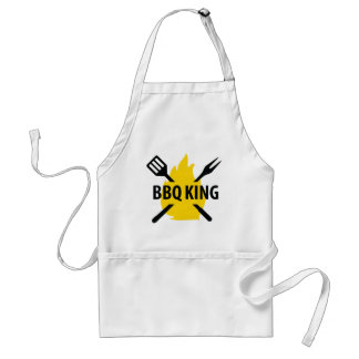 BBQ King with flame icon Standard Apron