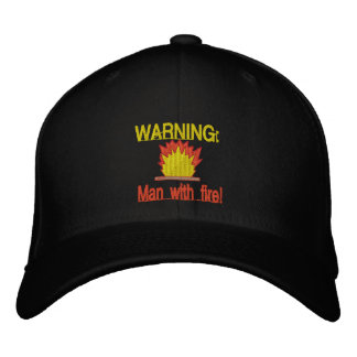 BBQ Man With Fire Embroidered Hat
