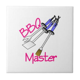 BBQ Master Small Square Tile