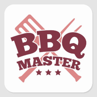 BBQ MASTER SQUARE STICKER