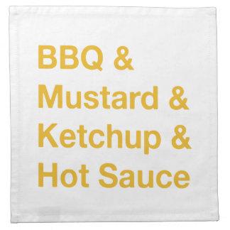 bbq napkin, sauces napkin