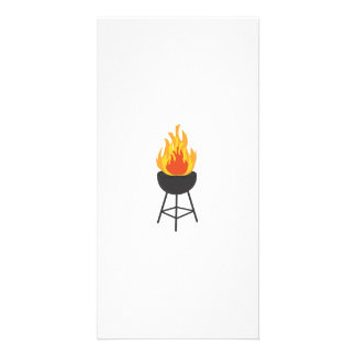 BBQ on Fire Picture Card
