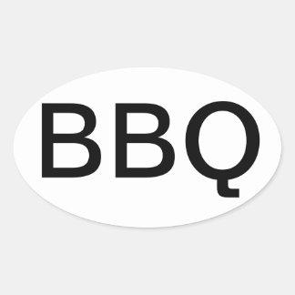BBQ OVAL BUMPER STICKER