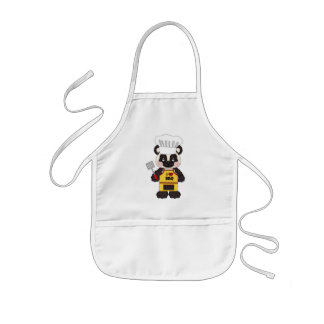 BBQ Panda Bear cartoon apron