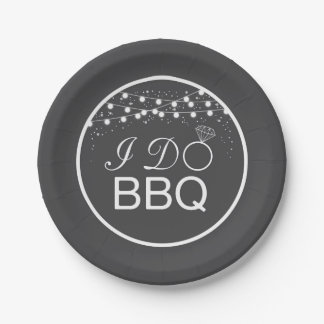 BBQ paper plates / I Do BBQ paper plates 7 Inch Paper Plate