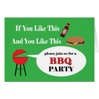 BBQ Party Invitation Card