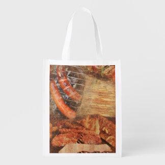 BBQ Party Reusable Grocery Bag