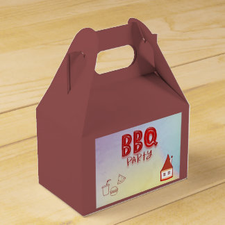 BBQ Party Wedding Favour Box